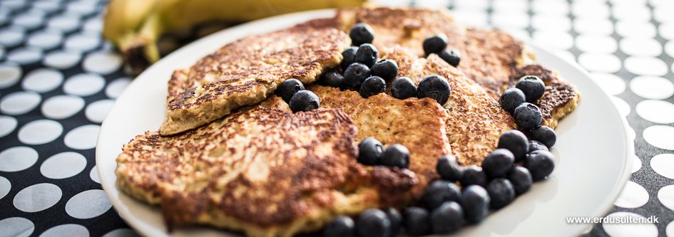 Billede af bananpandekager uden sukker og mel