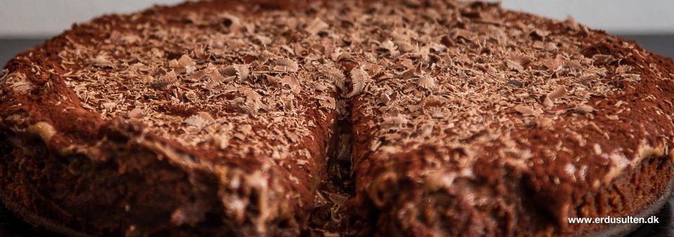 Billede af chokoladekage med chokoladecreme