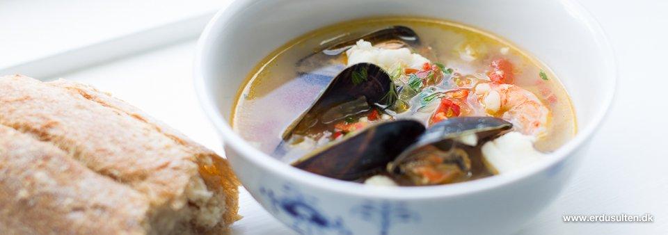 Billede af fiskesuppe