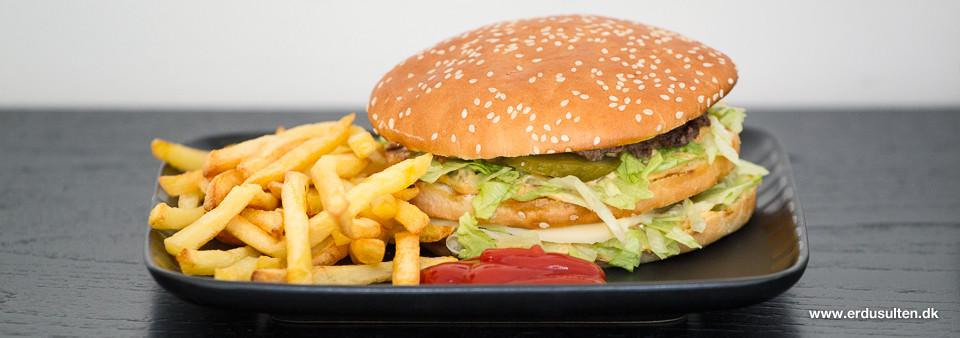 Billede af hjemmelavet Big Mac burger