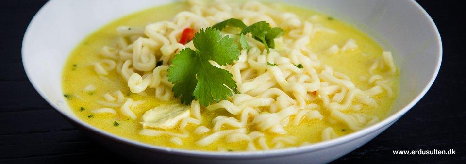 thai suppe med nudler og kylling