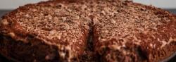 Billede af Chokoladekage med chokoladecreme fotograferet af Lars Holmgaard