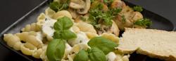 Billede af Pasta med gorgonzola sauce og champignon fotograferet af Lars Holmgaard